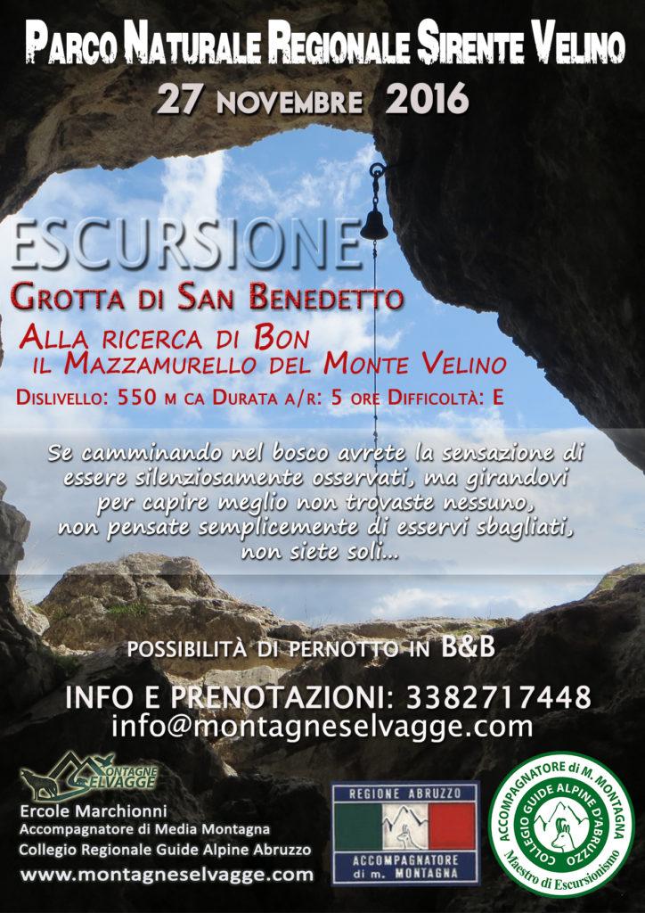 grotta di San Benedetto, Monte Velino