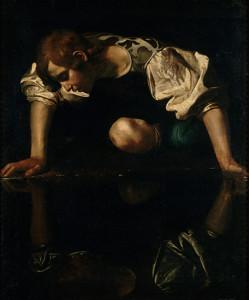 Narciso da quadro di Caravaggio