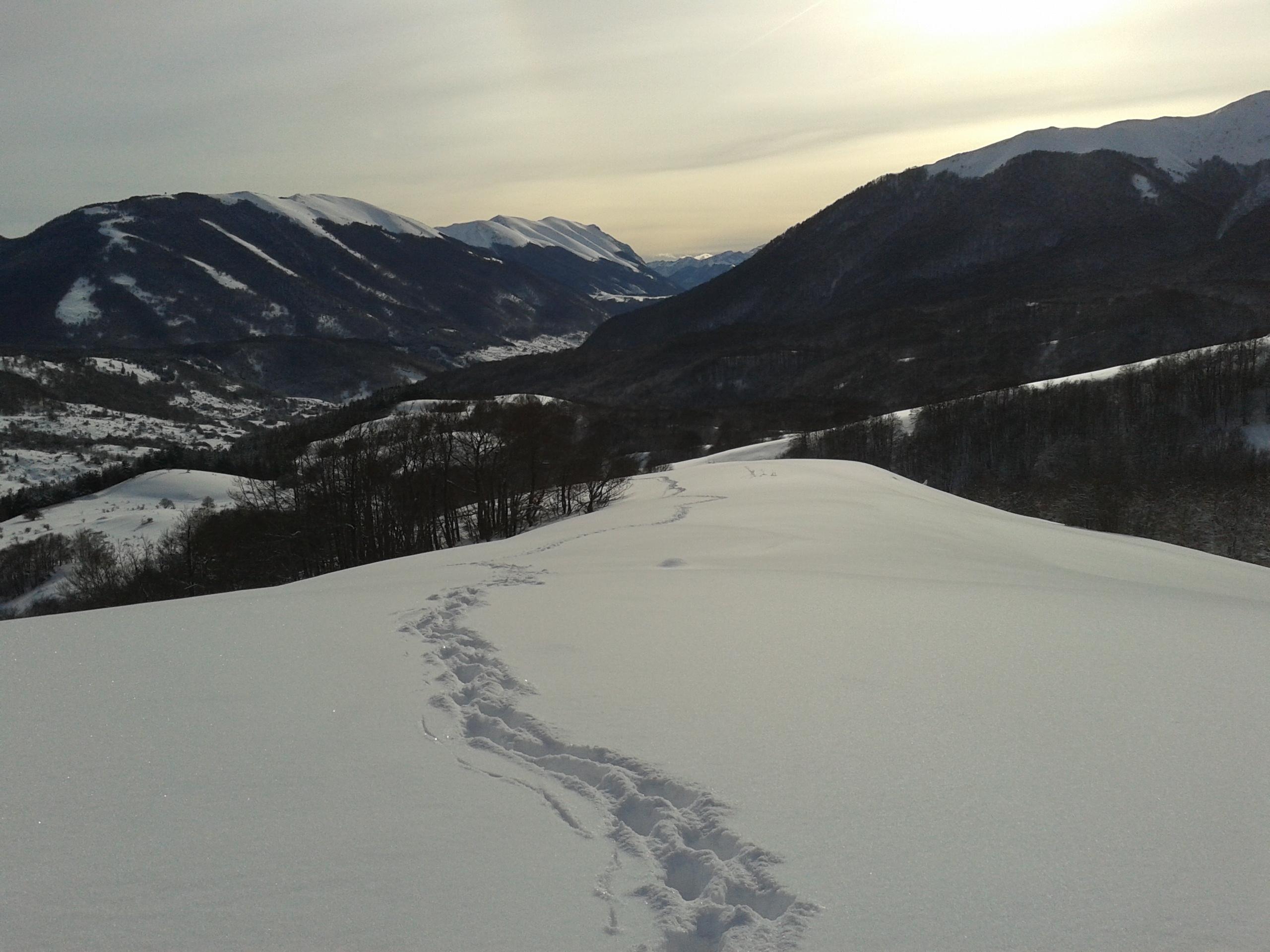 Ciaspolata in Abruzzo