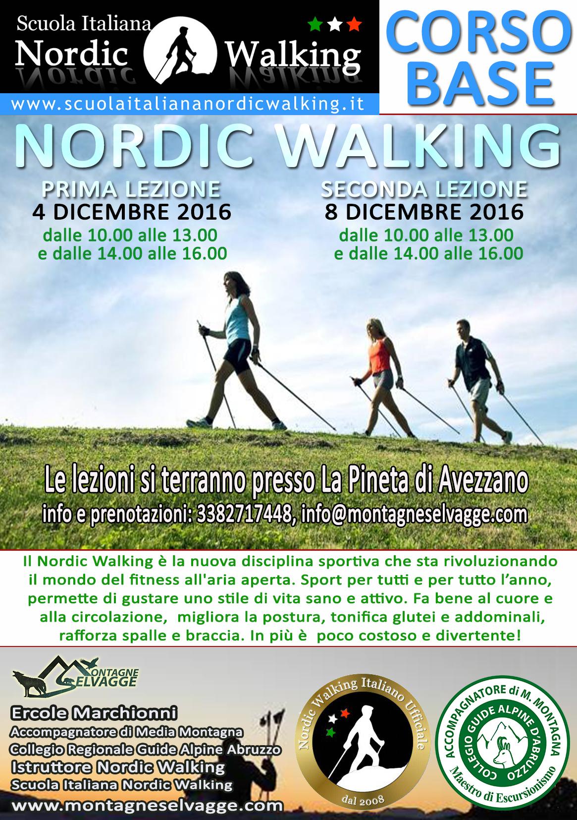 Corso base di Nordic Walking